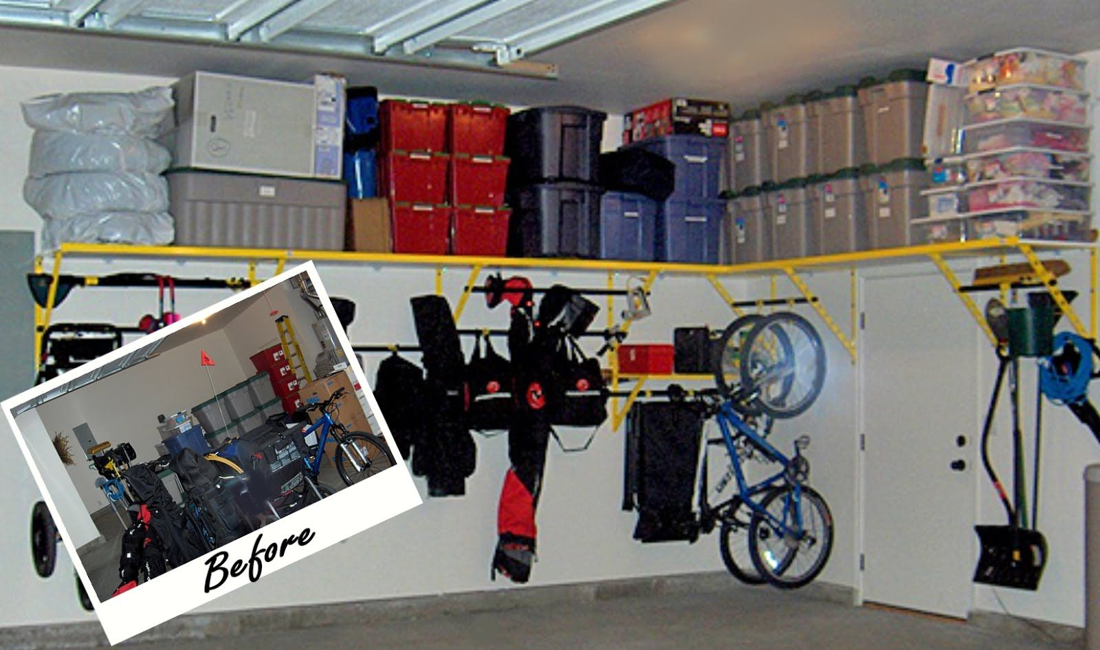 Garage Storage Organization Before After Photos Tell The Story
