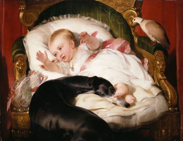 Victoria Princess Royal with Eos by Edwin Henry Landseer