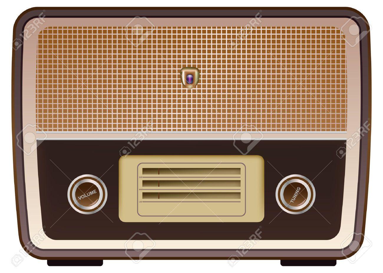 Google image result for http image spreadshirt com image server v1 - Vector Photo Realistic Vintage Radio On White Background