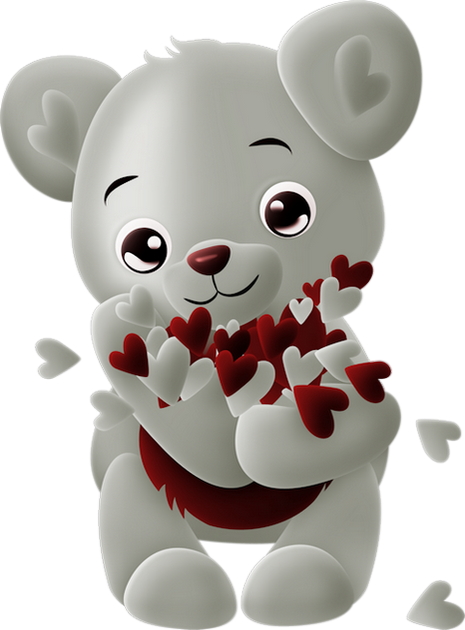 Tube Ours Coeurs Amour Bear Png Hearts Love Easter Bunny Pictures Teddy Bear Images Polar Bear Images