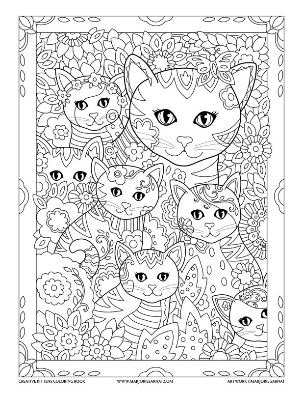 mom and kitties creative kittens coloring book by marjorie sarnat - Coloring Pages Kitty Summer