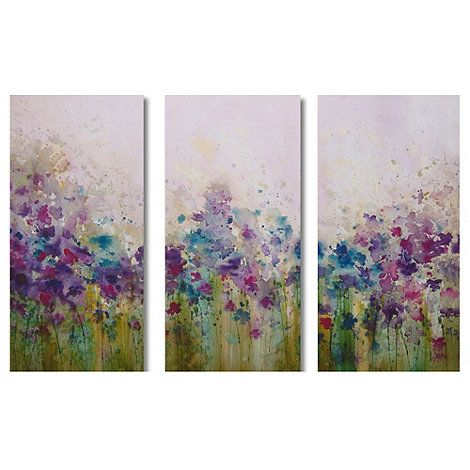 Graham brown set of three watercolour meadow wall art