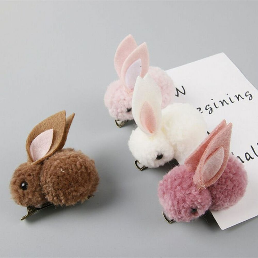 Cute Plush Rabbit Bunny Ears Kids Girl Hair Clips Bows Barrette Accessories for Children Hairclip Headdress Headwear Hairpin #kidshairaccessories