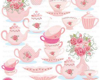 Tea Clipart Tea Party Clipart Tea Time Lavender Clipart Etsy In 2021 Tea Pots Art Floral Tea Tea Party Invitations