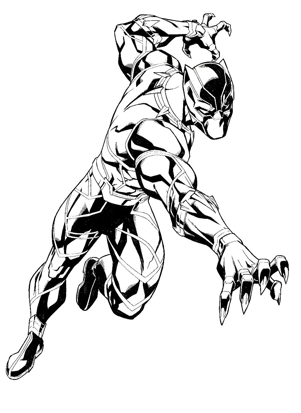 Black Panther Black White Art Dessin Panthere Noire