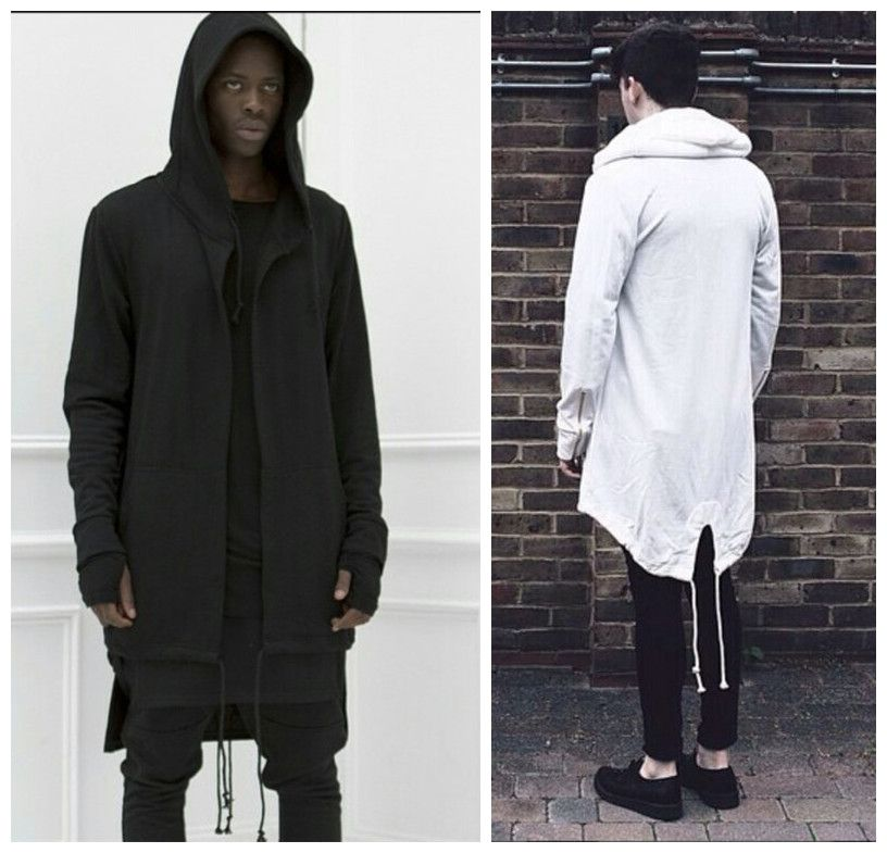 Original design 2015 New Fashion men's coat hoodies dovetail cardigan  hiphop men hoody black cloak outerwear