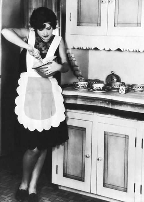 Okay imagine this. 1920's woman in nothing but an apron and garter tattooed on my arm. Yep.