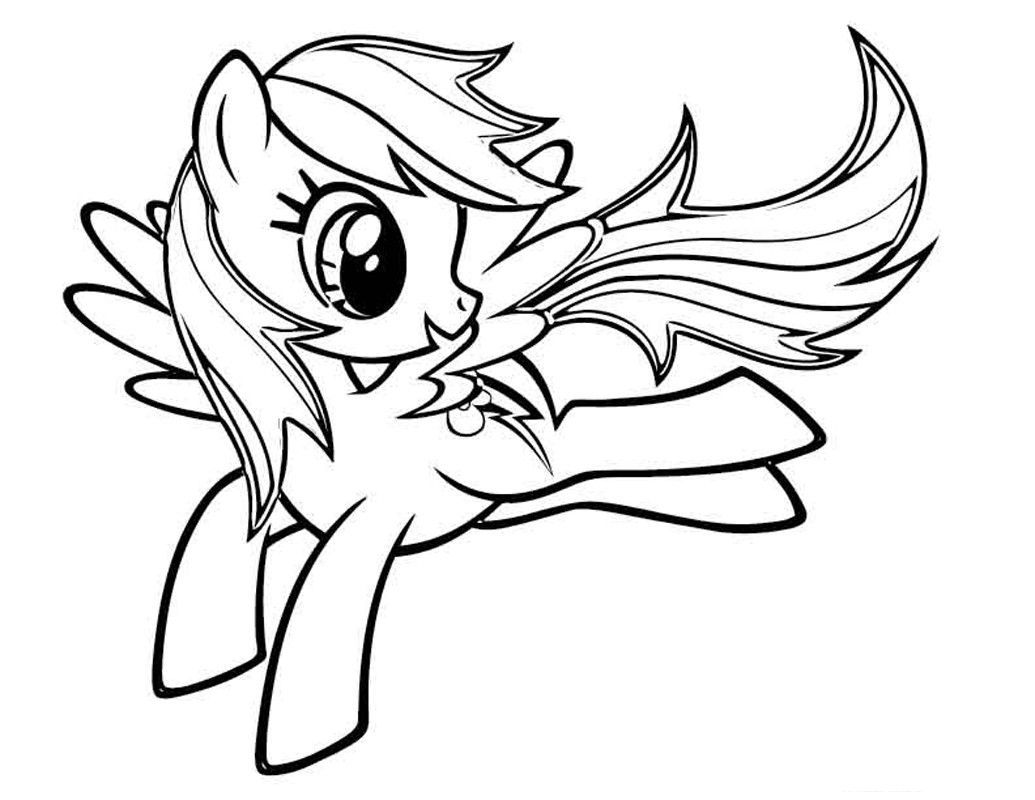 My Little Pony Rainbow Dash Jump Coloring Pages For Kids Gyw Printable My Little Pony Coloring Pages For Kids Boyama Sayfalari Cizilecek Seyler