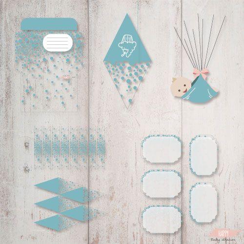 Invitations et décorations garçon à imprimer pour votre baby shower
