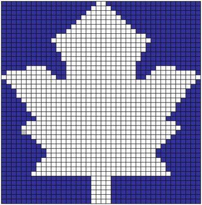 Anu ... to the rescue!: Free pattern: Maple Leaf chart | Gaming ...
