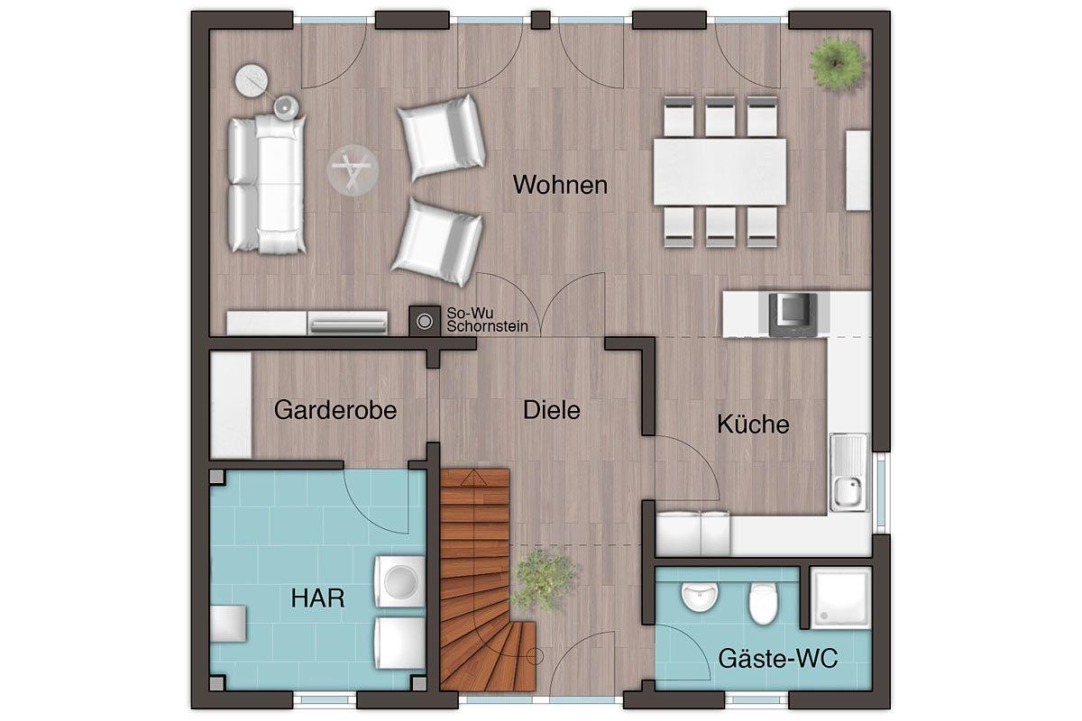 Town & Country Stadtvilla 145 Grundrisse Haus grundriss