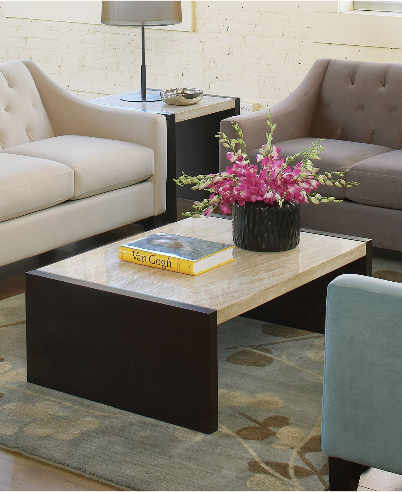 We Love This Travertine Coffee Table. It Would Make A