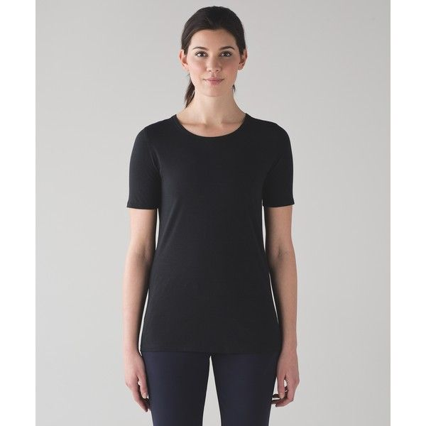 Lululemon Athletica Love Tee Crew II ($58) ❤ liked on Polyvore featuring tops, t-shirts, lululemon, crew-neck tee, crew-neck tops, crew neck top and crewneck t shirt