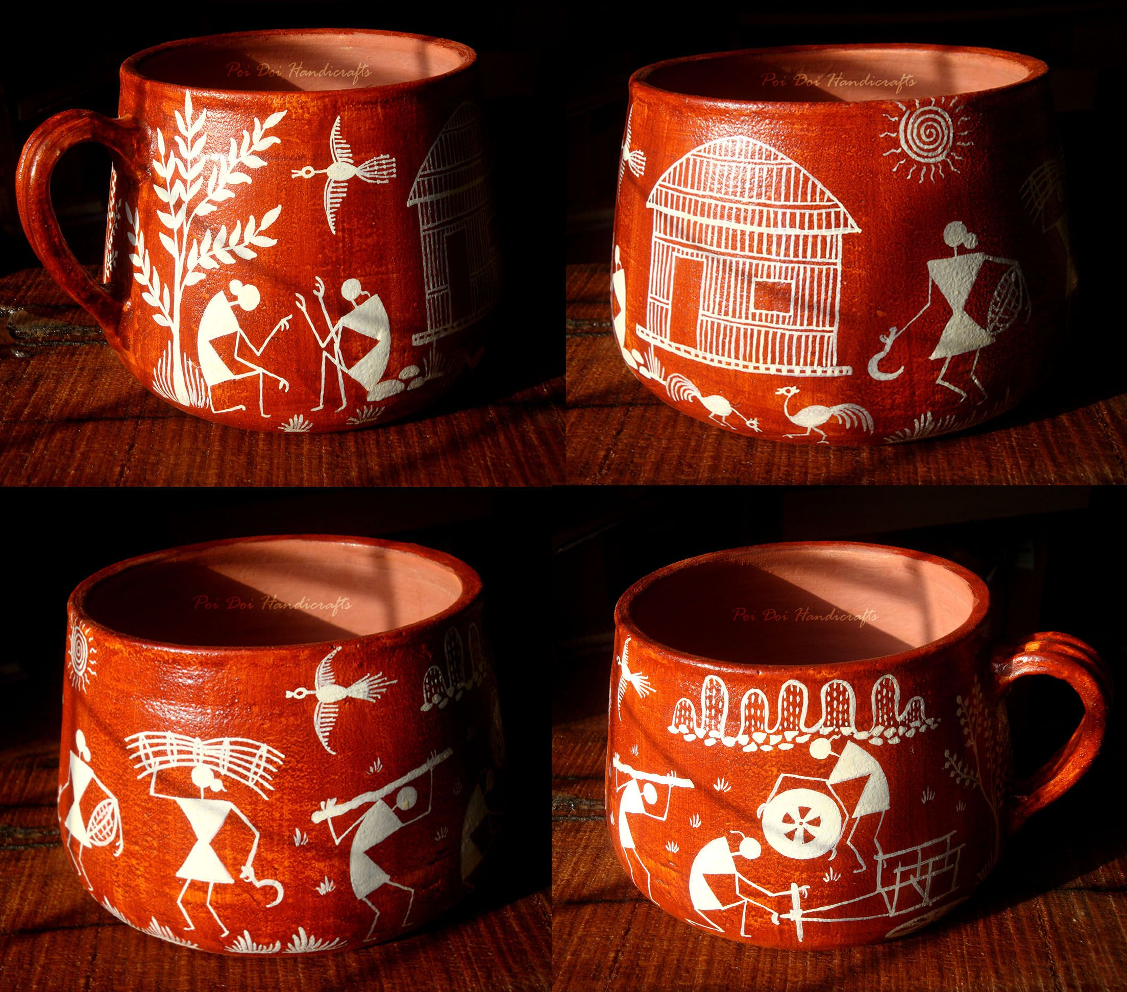Warli is an ancient Indian tribal art form that originated in Maharashtra. Warli paintings portrayed the day to day activities of the Warli tribe like harvesting, hunting, fishing, farming, animals, dances etc.
