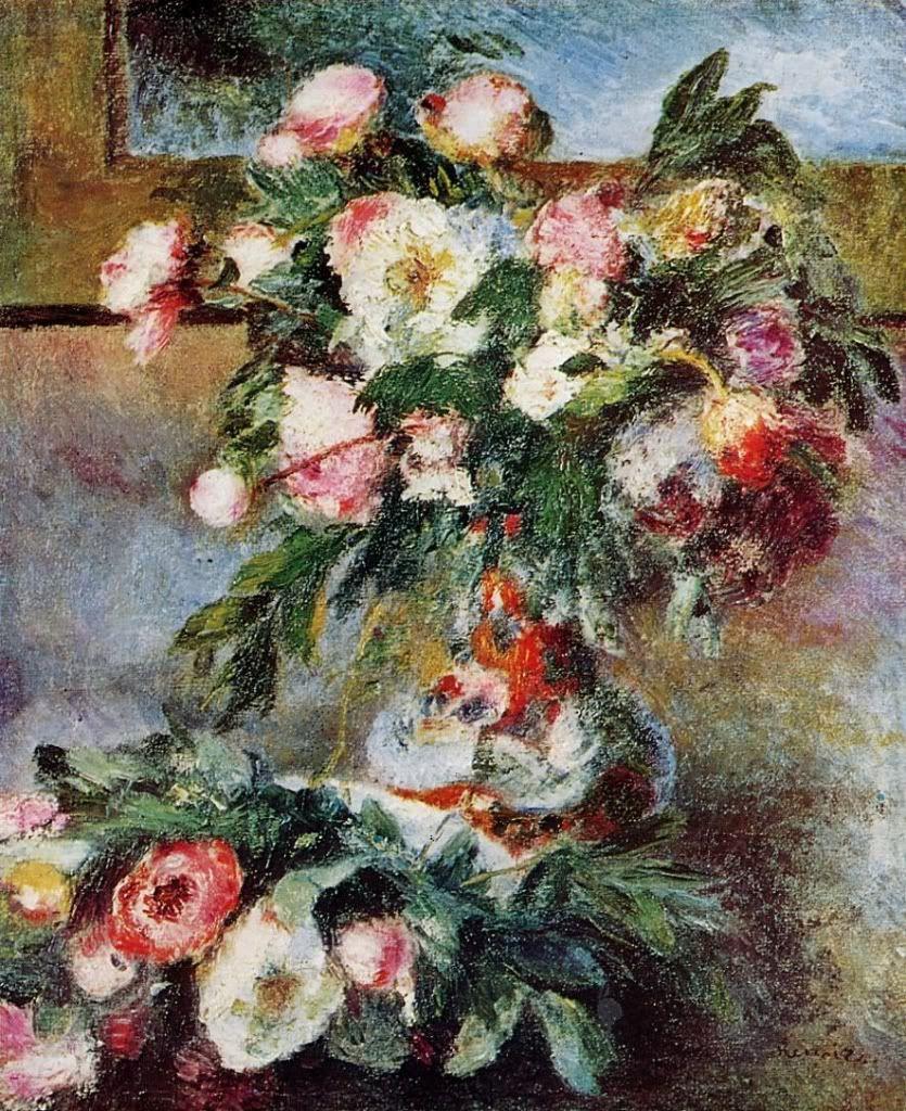 Peonies, Pierre Auguste Renoir.