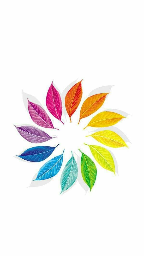 Colourful Leaves Christmas Ornament Color Wheel Design Color