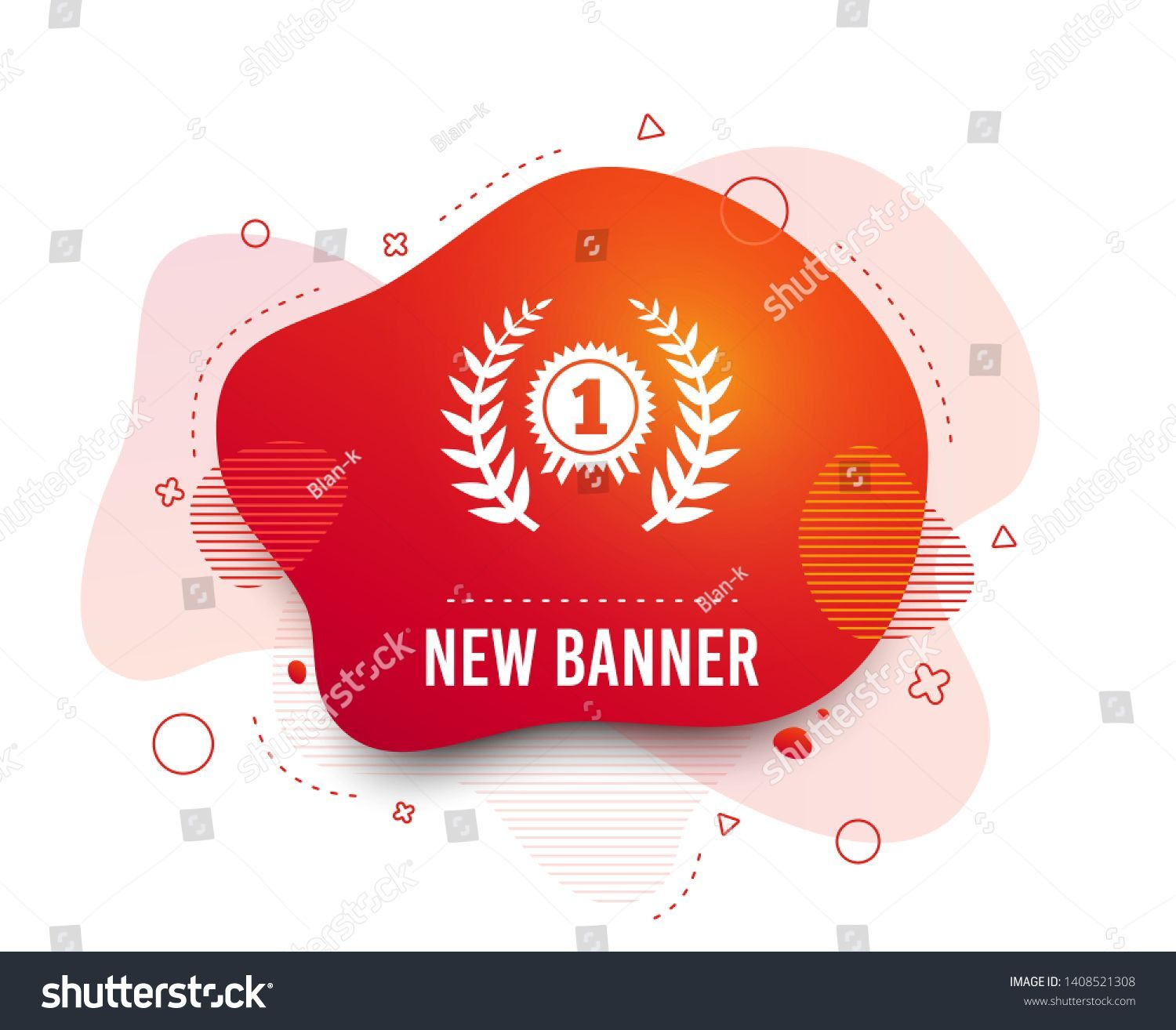 Fluid Badge First Place Award Sign Stock Vector (Royalty Free) 1408521308 :  Fluid badge. First place award sign icon. Prize for winner symbol. Laurel Wreath. Abstract shape. Gradient award icon. Flyer liquid banner. Vector ,