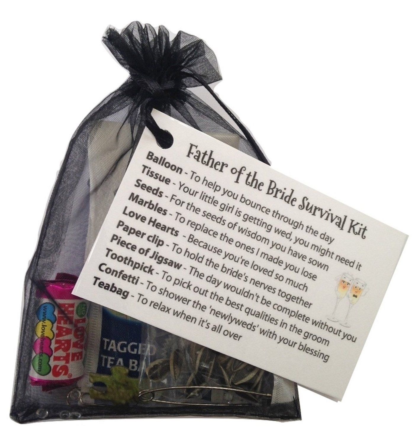 Father Of The Bride Survival Kit In BlackThank You Gift Card Keepsake