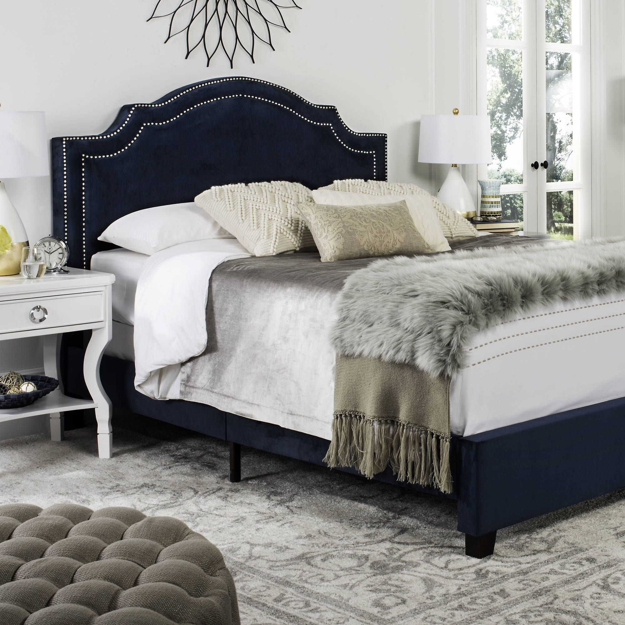Home Queen Upholstered Bed Upholstered Bed Frame Upholstered
