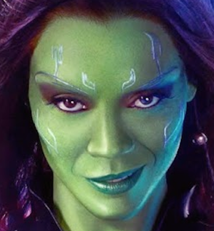 Gamora Cosplay How-To: Make Up (and body paint ...