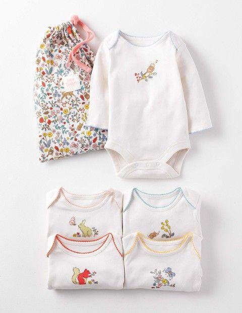 Super Soft 5 Pack Logo Bodies 71512 Gifting At Boden Violet S