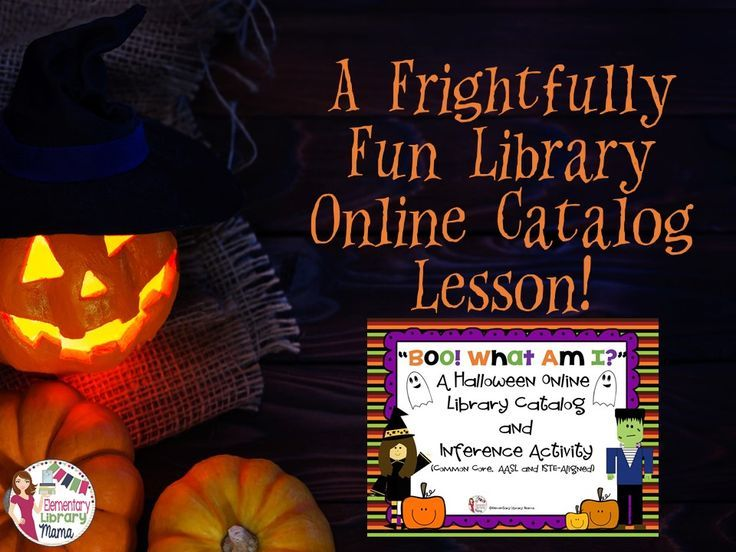 Boo! What Am I? A Halloween Online Library Catalog and Inference - halloween catalog