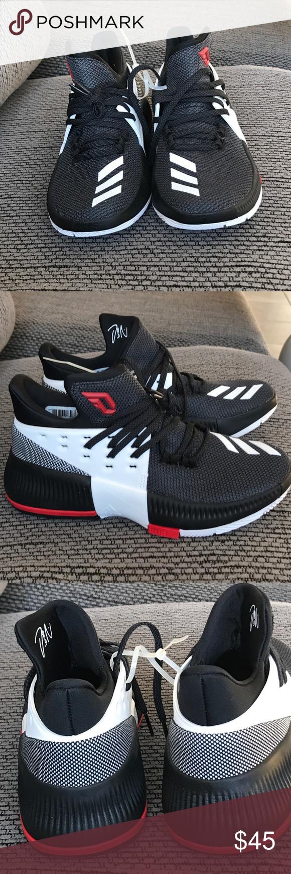 D Lillard 3 NWT negro blanco rojo, Zapatillas adidas y Adidas