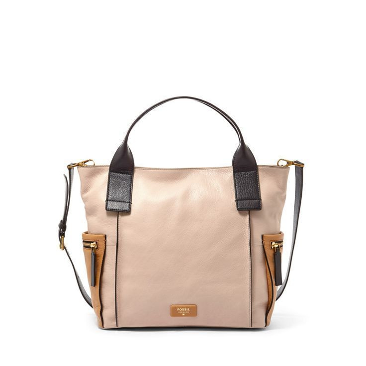 Fossil 'Emerson' Colorblock Leather Satchel New $248 #Fossil #ShoulderBag
