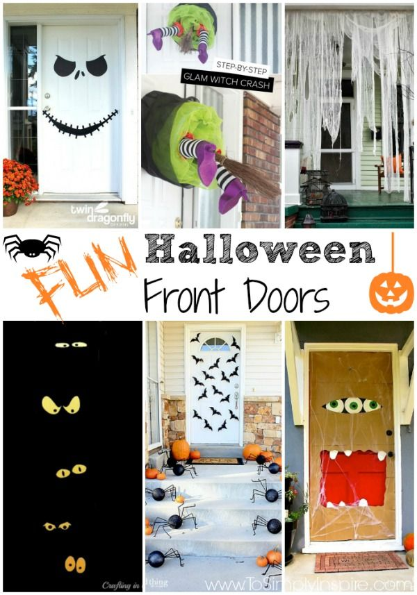 Merveilleux Halloween Is Right Around The Corner! There Are So Many Fun Ways To Decorate  Your Front Door To Welcome Your Trick Or Treaters.