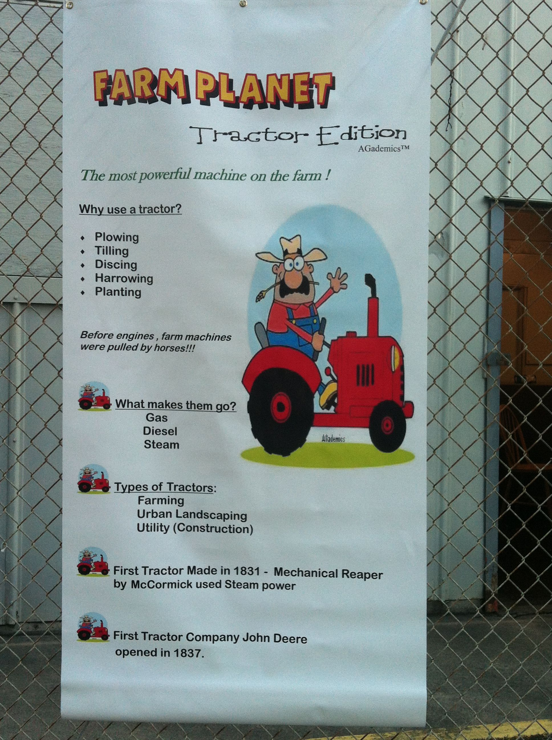 Newest Addition Tractor Banner