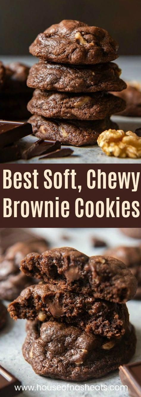 The best fudgy chewy chocolate brownie cookies are made in one bowl with cocoa powder, lots of choc