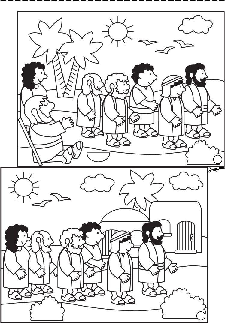 TBT Blind us Coloring Book | Sunday School | Pinterest