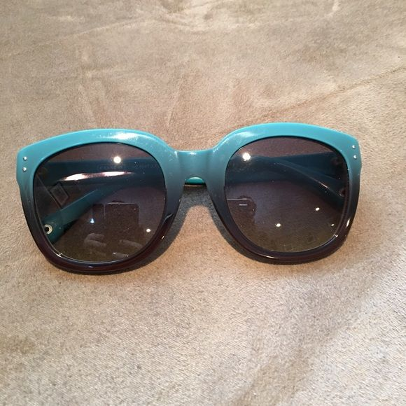 Authentic Coach (Turquoise Gradient) Sunglasses Barely worn authentic Coach sunglasses. A few visible scratches around the lenses when looked at close up. Coach Accessories Glasses