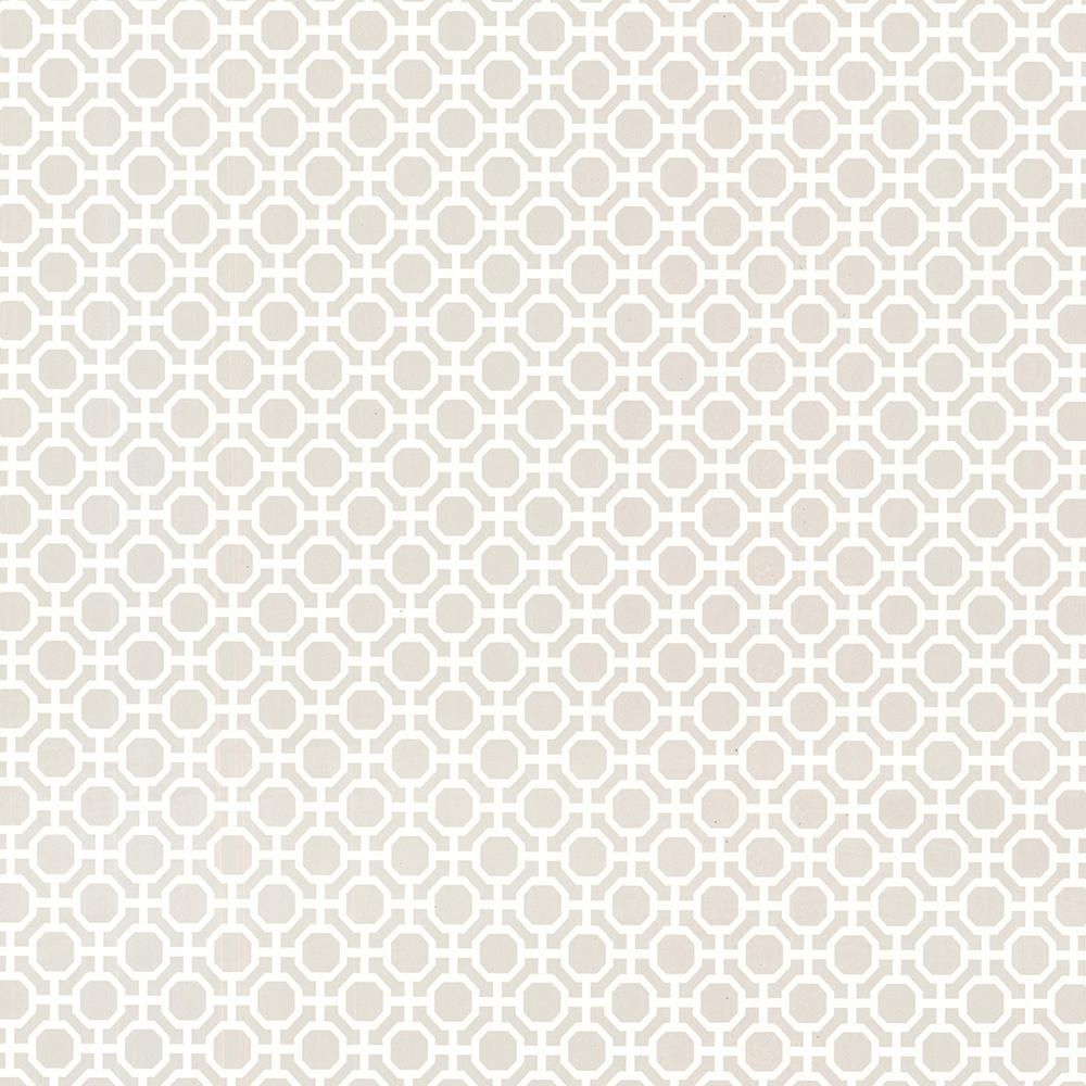Brewster Beatrix Grey Modern Geometric Grey Wallpaper