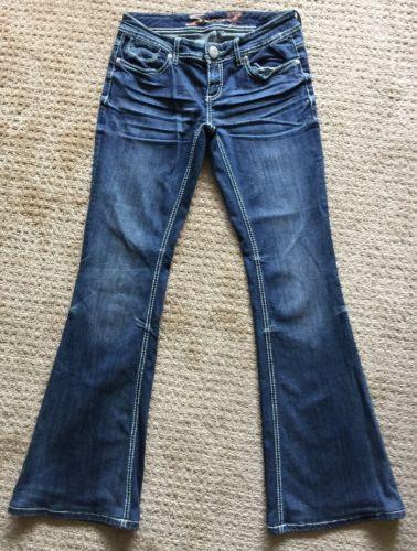Seven 7 Stretch Denim Medium Wash Flare Jeans Women's Size 27