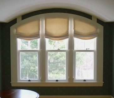 Unique arch window shades for beautiful houses drapery for Arched kitchen window treatment ideas