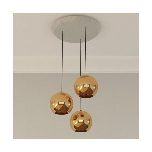 Tom Dixon Copper 25 3 Light Multipoint Pendant Modern Chandelier Orb Light Tom Dixon Lamp