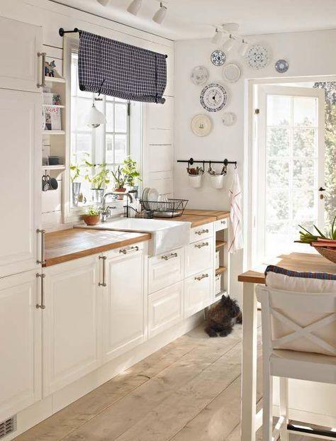 Pin von monocera auf Küchen | Ikea küche landhaus, Gardinen küche ...