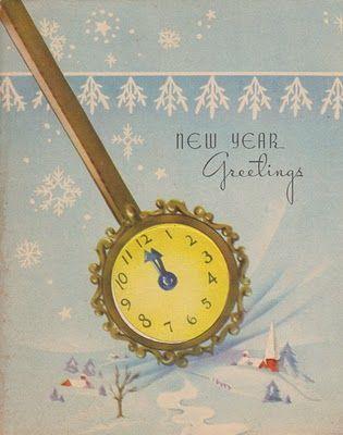 charming mid century new years greetings