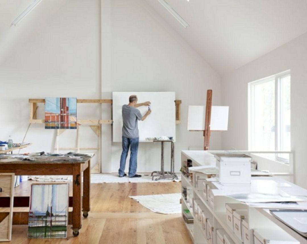 65+ Stunning Art Studio Design Ideas for Small Spaces | Art studio ...