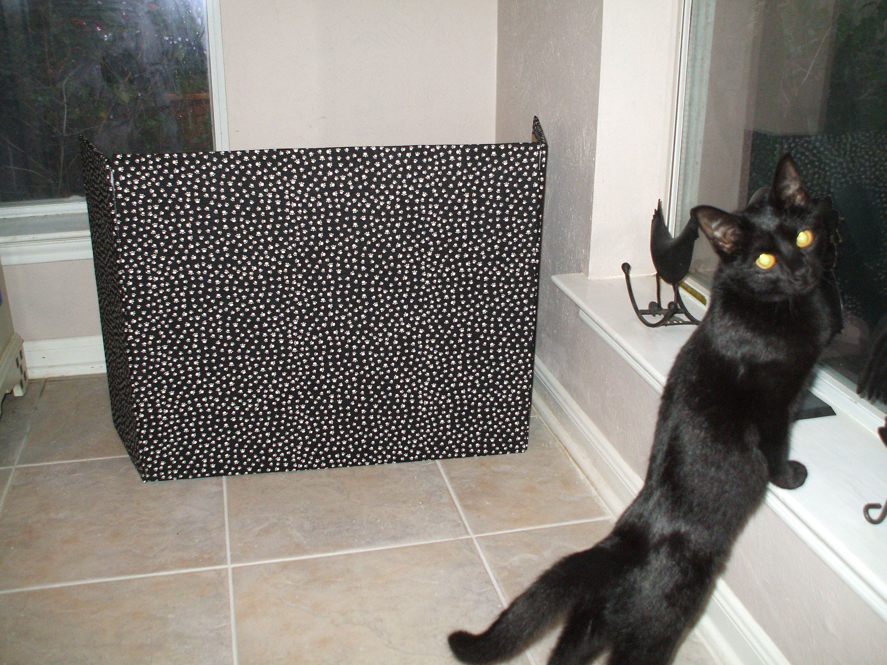 My Litter Box Screen Made From Foam Board Covered W Fabric