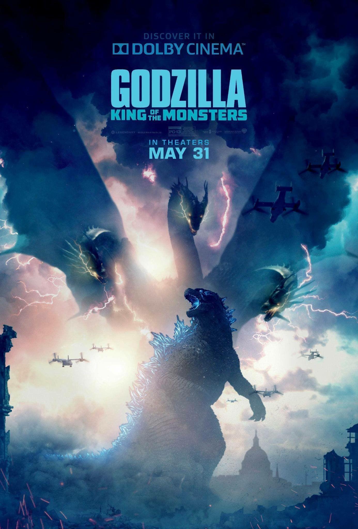 Godzilla King Of The Monsters Godzilla Godzilla 2 New Movie Posters