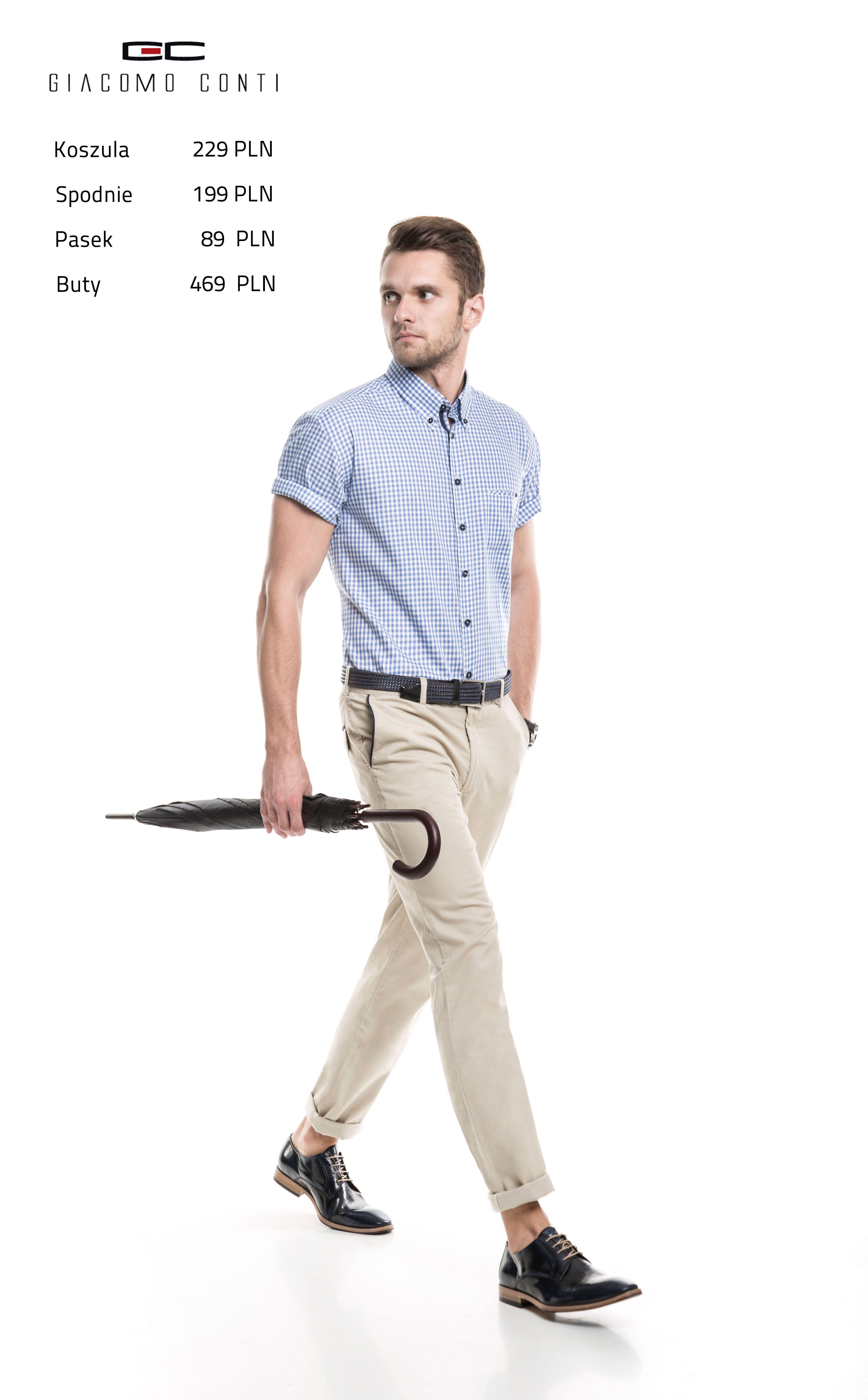 Stylizacja Giacomo Conti Koszula Sergio 15 01 58 K Spodnie Abramo 15 44t Buty 2676