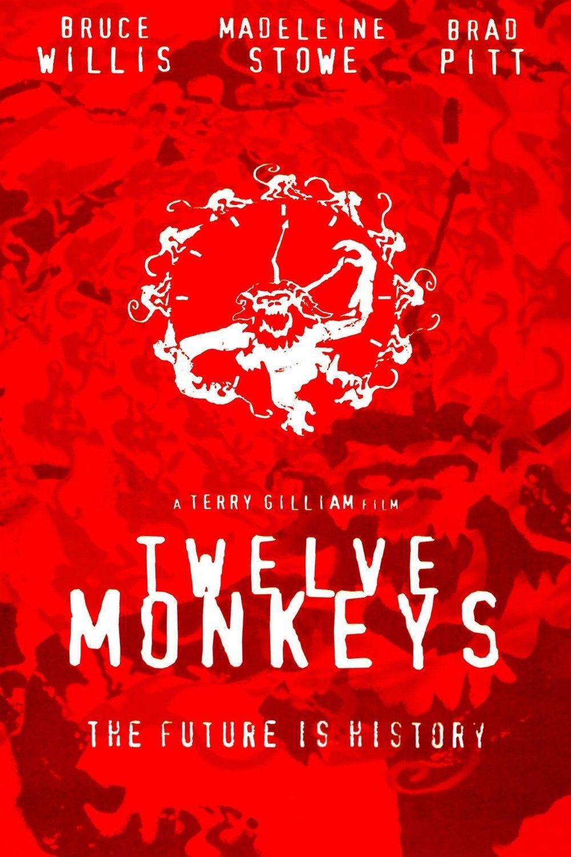 12 MONKEYS MOVIE POSTER FILM A4 A3 ART PRINT CINEMA