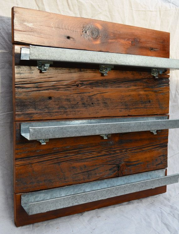Reclaimed Wood Spice Rack Wood Spice Rack Wall Spice