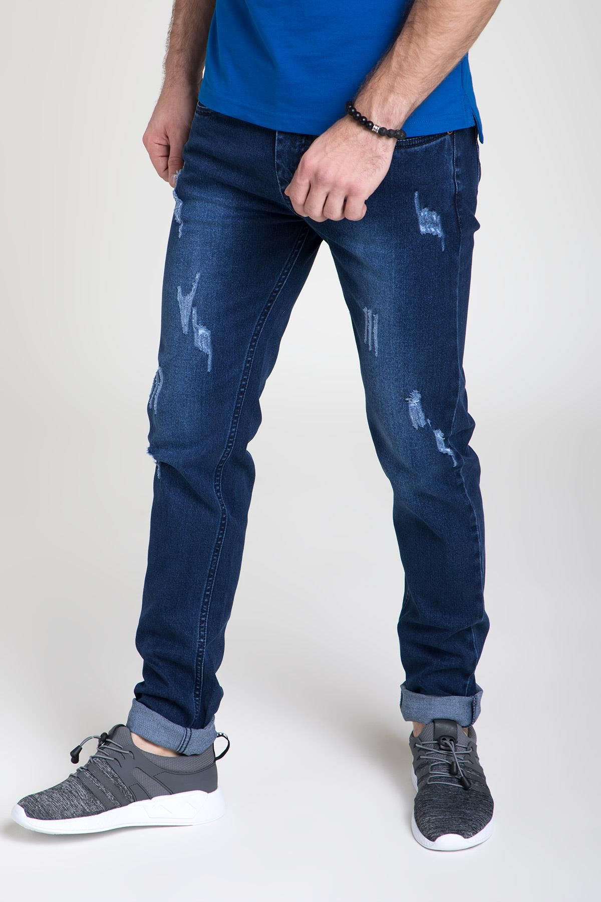 14fh06d1 Ifazone Blue Distressed Denim Direct Selling