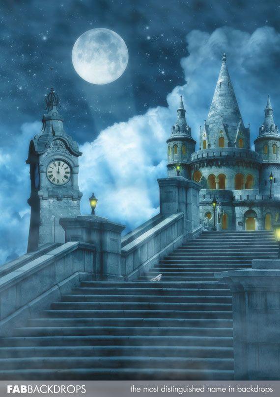 Disney Inspired Cinderella Backdrop Stroke Of Midnight