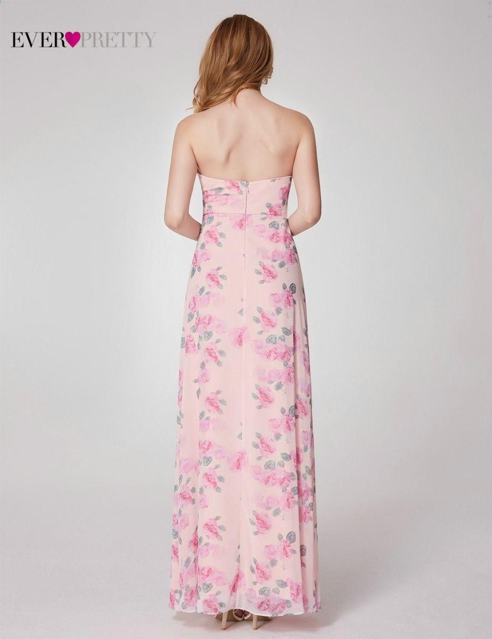 Kiedykolwiek Dosc Szyfonowa Kwiat Drukowane Suknie Druhna 2018 Dziewczyna Sukie Long Bridesmaid Dresses Pretty Bridesmaid Dresses Sleeveless Bridesmaid Dresses