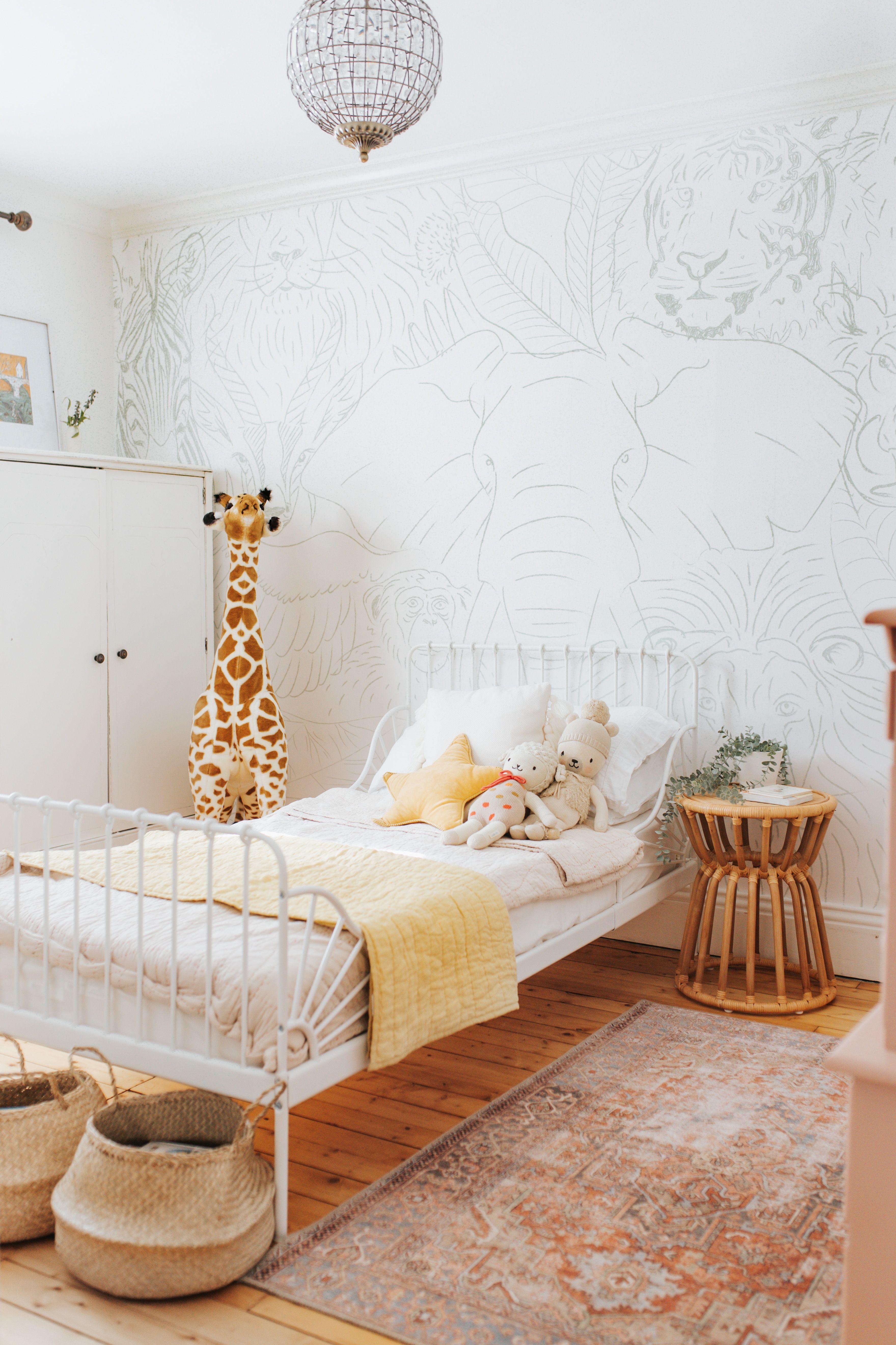 Animal Kingdom Wallpaper Kids Bedroom Wallpaper Neutral Kids Room Minimalist Kids Room Unisex bedroom wallpaper ideas