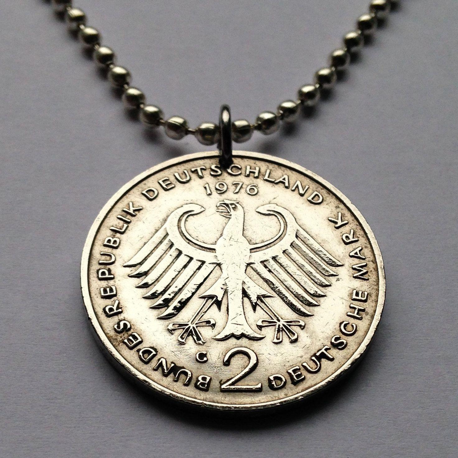 1976 germany 2 deutsche mark coin pendant german eagle necklace 1976 germany 2 deutsche mark coin pendant german eagle necklace escutcheon stuttgart coat of arms deutschland berlin bavaria hamburg by coinedjewelry on mozeypictures Images